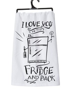 "PRIMITIVES BY KATHY primitives ""to the fridge"" towel"