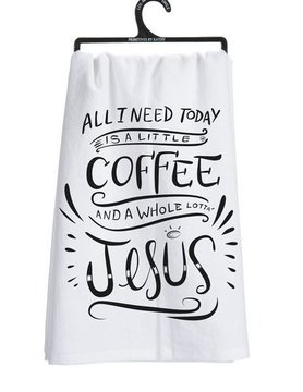PRIMITIVES BY KATHY Primitives Jesus Dish Towel 25519