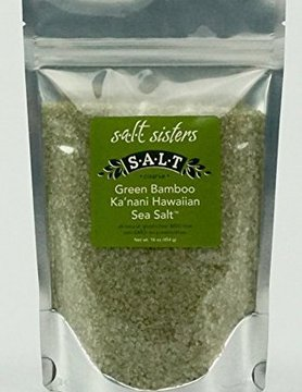 SALT SISTERS Salt Sisters Green Bamboo Ka'nani Hawaiian Sea Salt 4oz 184-cp4