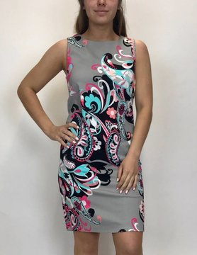 ARYEH Aryeh Sleeveless Printed Shift Dress DRY-1858