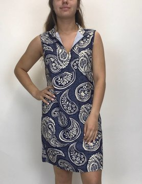 ARYEH Aryeh Printed Shift Dress Navy/White DR-Y-2352