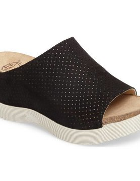 FLY LONDON Fly London Whin Slide Perf Lthr Blk 000