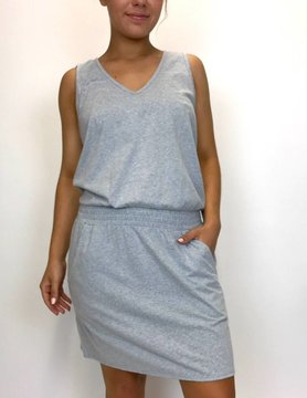 Lilla P Lilla P Smocked Wst Dress Gry Mist PA0457-GYMS-1