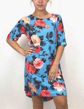 Nally & Millie Nally & Millie Floral Dress Blue N341603-G
