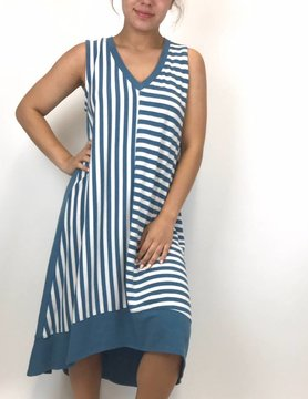Nally & Millie Nally & Millie Ocean Stuped Dress N301513