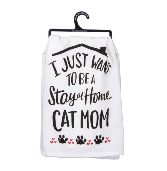 PRIMITIVES BY KATHY Primitives by Kathy Dish Towel- Cat Mom