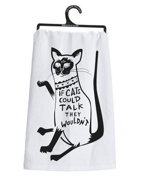 PRIMITIVES BY KATHY Primitives Cats Could Talk Dish Towel
