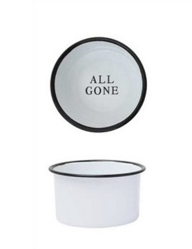 "CREATIVE COOP Creative Co-op 'ALL GONE' 6"" Pet Dish"