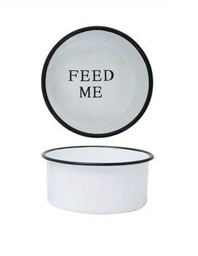 "CREATIVE COOP Creative Co-op 'FEED ME' 8"" Pet Dish"