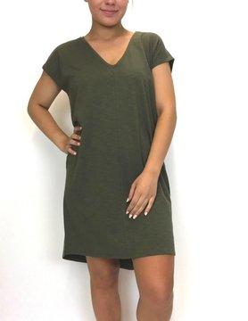 Lilla P Lilla P V Neck Dress Kale PA0417