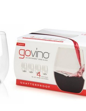 GO VINO GoVino Dishwasher Safe Wine Glass 4 pack