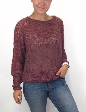 Billabong Billabong See ya Soon Vintage Plum Sweater