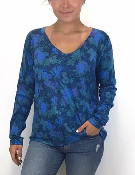 Nally & Millie Nally & Millie LongsleeveTop Blue Floral