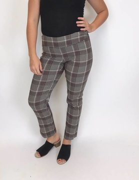 "UP Up Side Vent 28"" Oxford Plaid Pant"