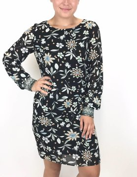 Esqualo Esqualo Passion Flower Dress Black
