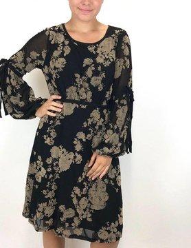 Mystree Mystree Velvet Burnout Dress Black
