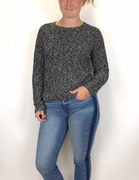 Lilla P Lilla P Tie Back Sweater Blk/Ivory