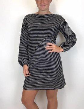 Lilla P Lilla P Striped Dress Blk/Antique White