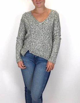 Lilla P Lilla P Vneck Sweater Ivory/Green