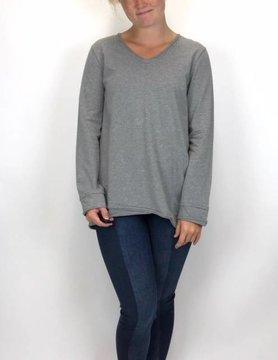 NEON BUDDHA Pure Knit Kayla T shirt Grey