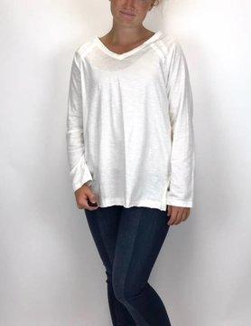 NEON BUDDHA Pure Knit Maya T shirt Chalk