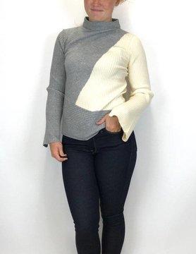 Mystree Mystree Rib Sweater Grey 16655