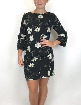 Esqualo Esqualo Big Flonce Dress Black