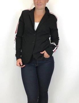 Esqualo Esqualo Ponte Stripe Blazer Black