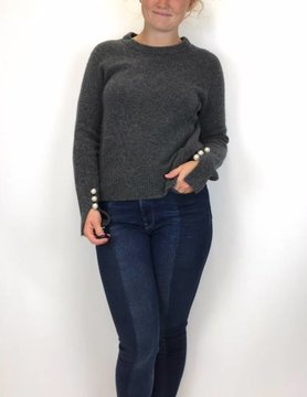 Esqualo Esqualo Pearl Detail Sweater Antho