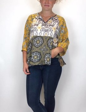 Ivy Jane Ivy Jane Mix Print Top 621225