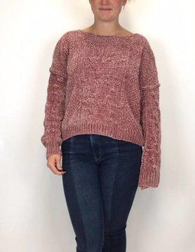Hem & Thread Hem & Thread Drop Shoulder Crew Nk Sweater