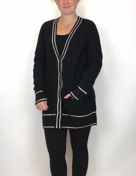 Lucky BRAND Lucky Brand Button Front Cardi Black