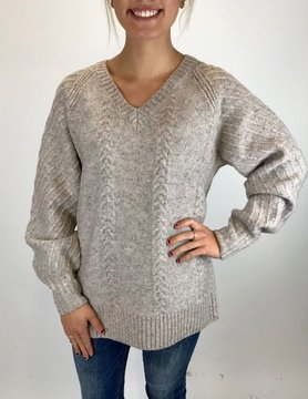 Ost Ost Naomi Cable Sweater Oatmeal