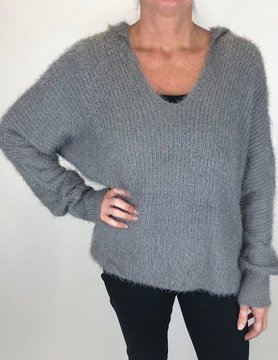 wild heart Wild Heart Sweater Grey Mohair