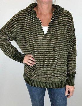 wild heart Woven Heart Sweater Olive