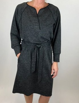 Lilla P Lilla P Tie Front Dress Coal