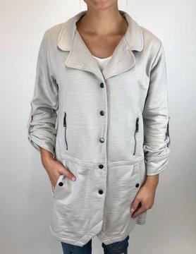 NEON BUDDHA Pure Knit Strpe Jacket Dove