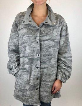 NEON BUDDHA Pure Knit Ivy Reversible Jacket Grey