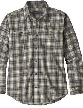 Patagonia Patagonia M's L/S Pima Cotton Shirt Paddler Tailored Grey