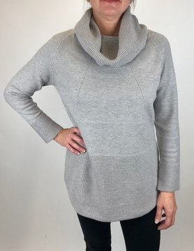 Elena Wang Elena Wang Cowl Neck Sweater Silver
