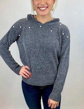 Zoria Zoria Pearls Grey Sweater