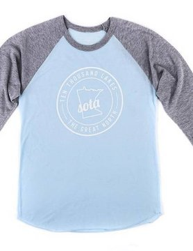 Sota Clothing Sota Clearwater Raglan Ice Blue/Gry