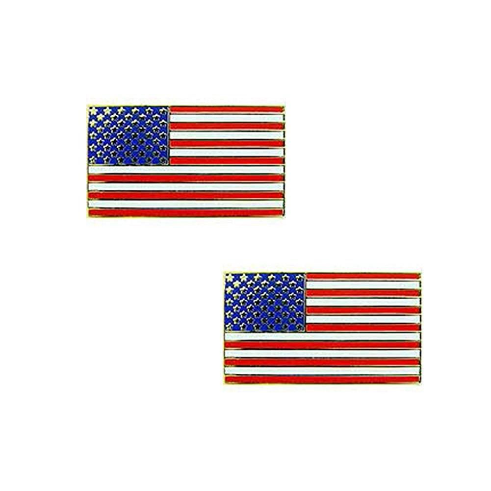 AMERICAN FLAG LABEL PIN - PACK OF 2