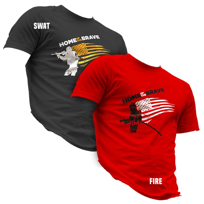 911RR Apparel 911RR Home of the Brave T-Shirt
