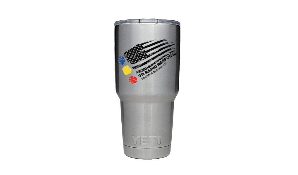 911RR SUBLIMATION Rambler Yeti Mug 911RR Distressed Flag