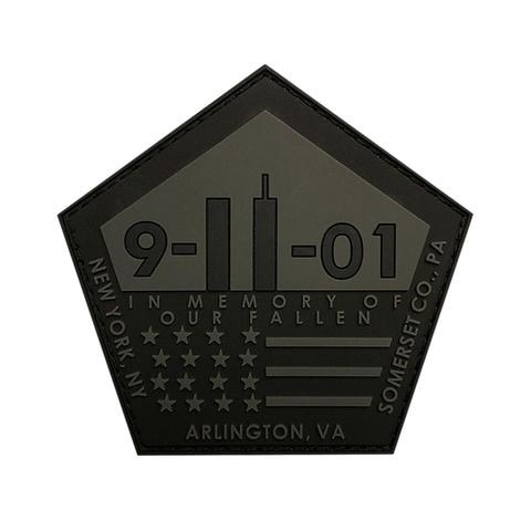 9/11 IN MEMORY OF OUR FALLEN PATCH (PVC)