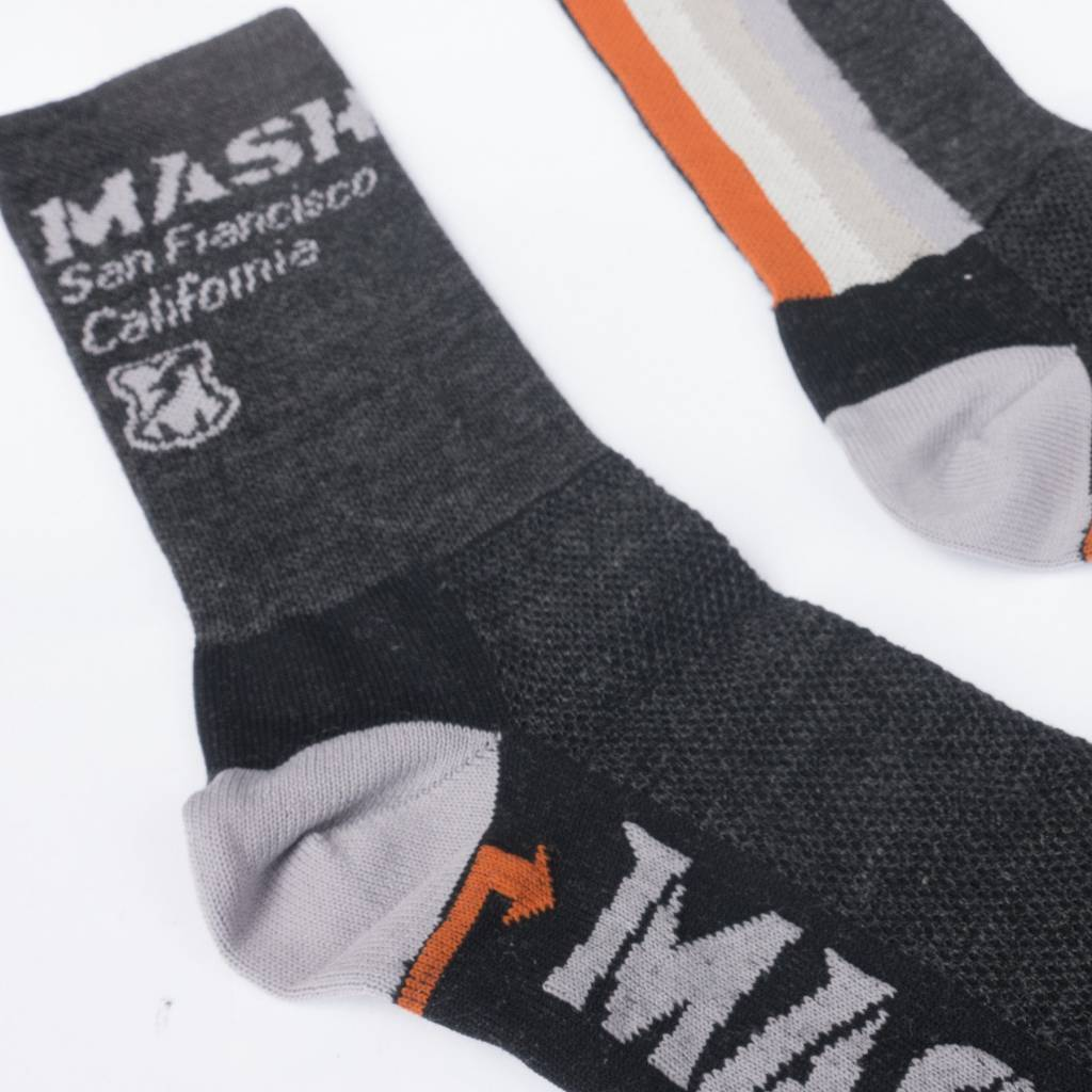DeFeet MASH Multi-Stripe Wool High Socks