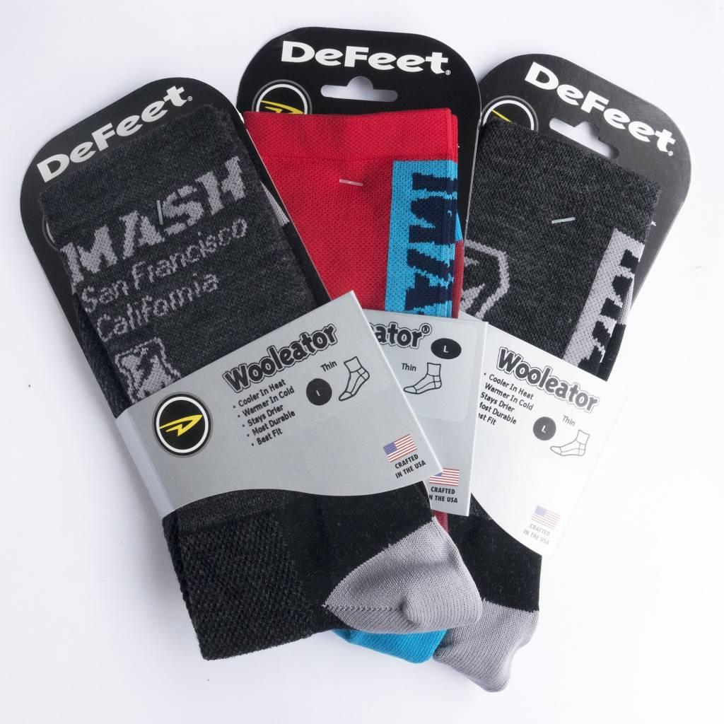 DeFeet MASH Shop Charcoal Wool High Socks