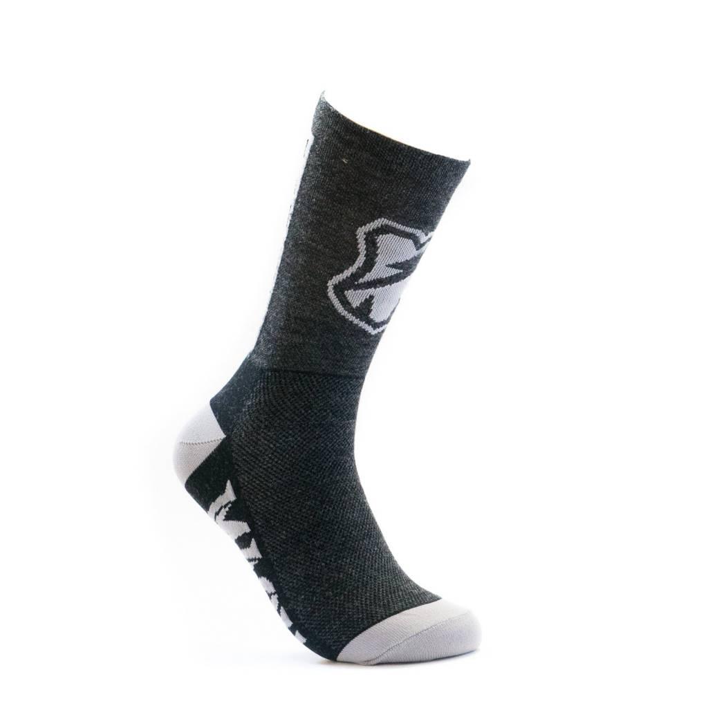 MASH Shop Charcoal Wool High Socks