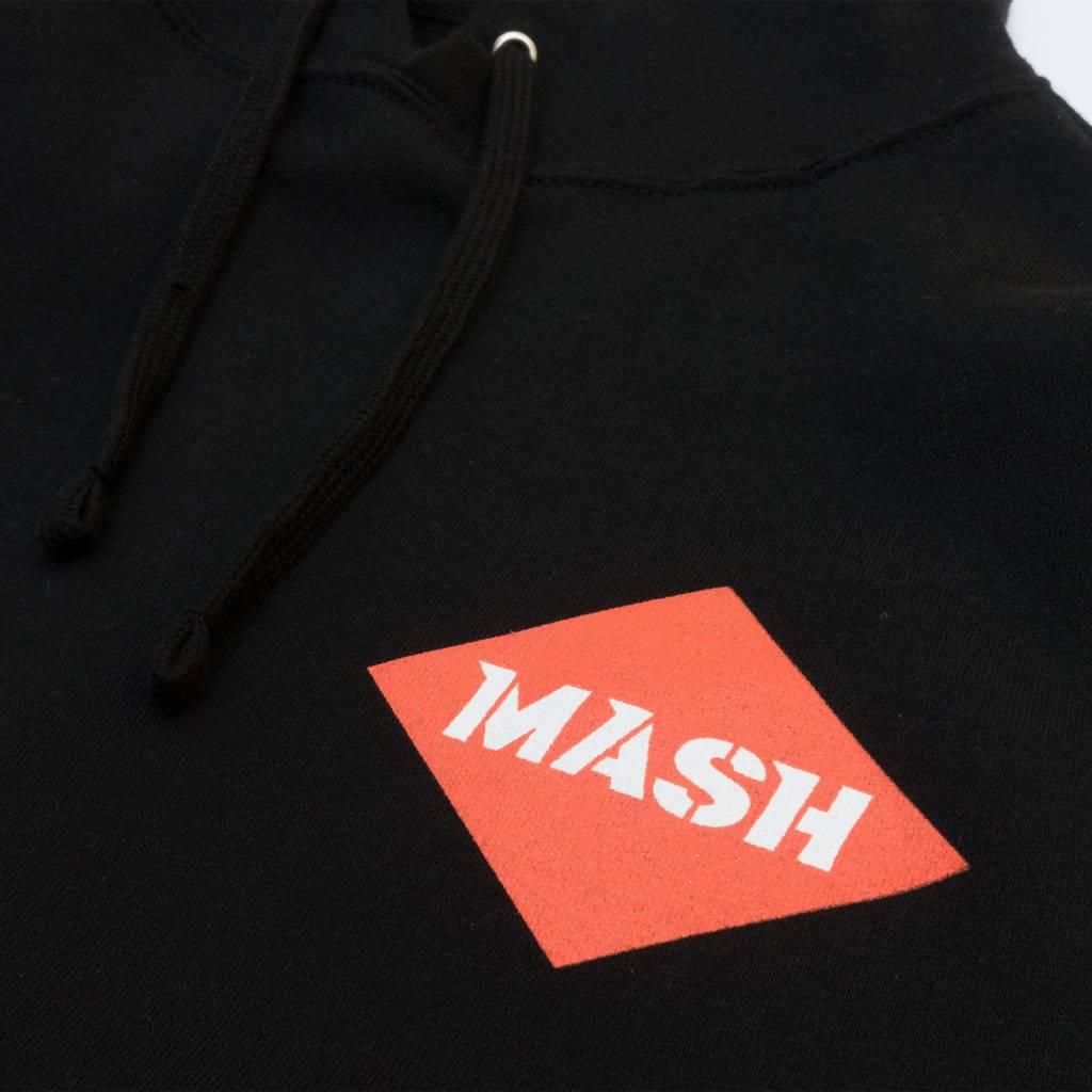MASHCOLOUR HOODED SWEATSHIRT BLACK